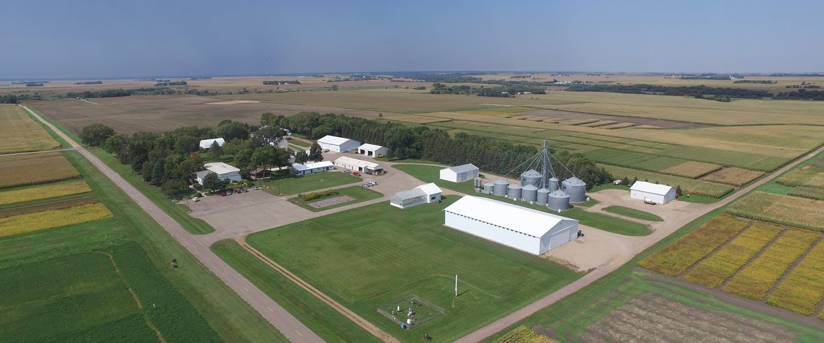Aerial view of the Southwest Research and Outreach Center office area